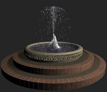 модел на фонтан